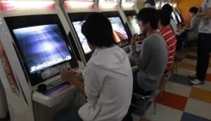 Borne d'arcade assise japonaise Sega