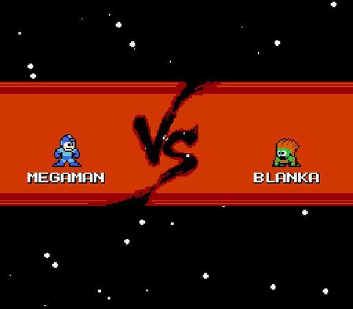 Megaman versus Streefighter Blanka