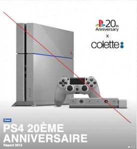 Vente de la PS4 20th Anniversary annulé, pourquoi ?
