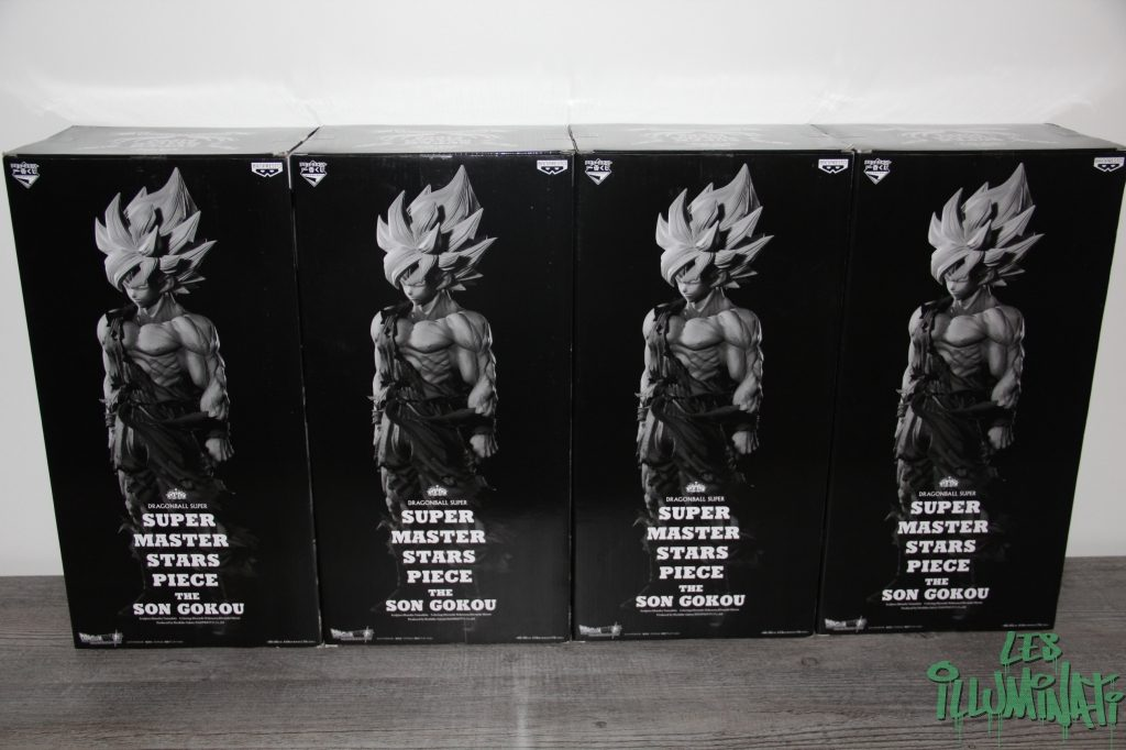Figurine Chat Coloris Gris Clair : Unboxing full set des super master stars piece son goku les